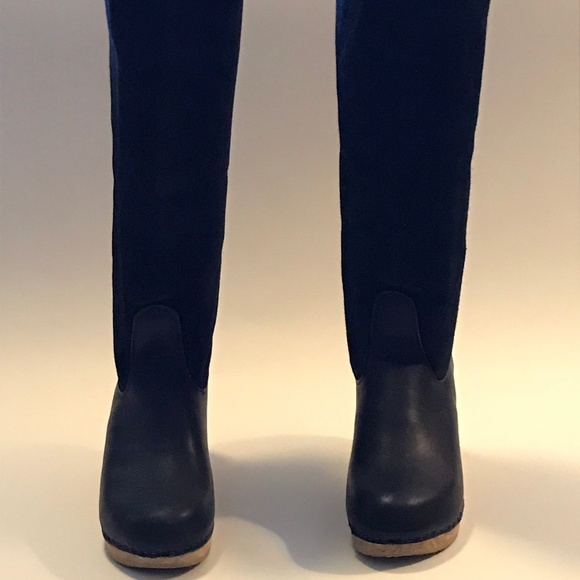 d8264687722 No. 6 black shearling knee-high clog boots 41/10.5